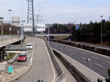 Multilevel road junction №50083