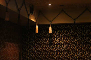 Lamps in the room lights and wallpaper wall dark №50399
