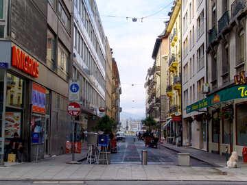 Calle peatonal en Europa №50138