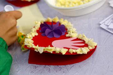 heart hand valentine day craft №50978