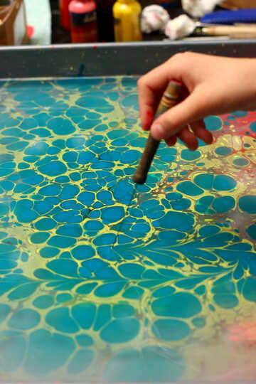 Marbelling blue water №50878