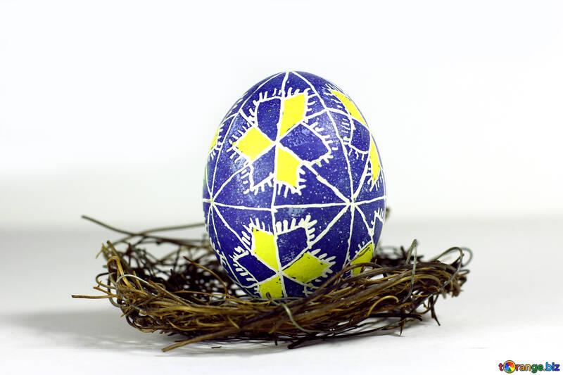 easter egg in basket №50264