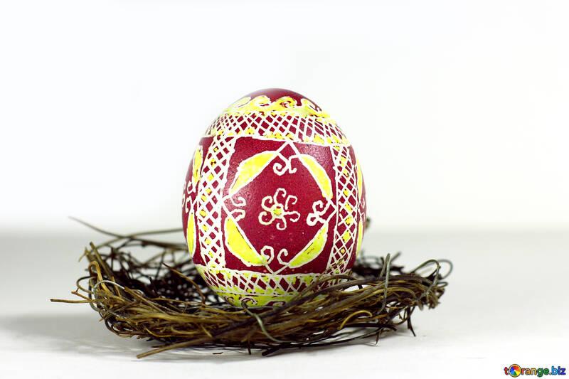 decoration easter egg in nest №50267