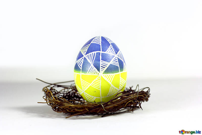 Easter egg yellow white grey №50263
