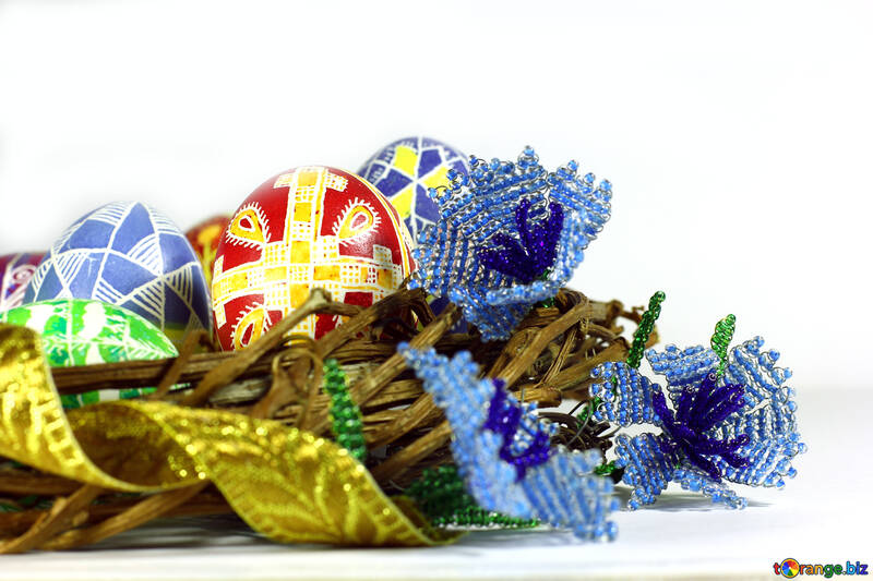 Fabrige eggs gold  ribbon №50278