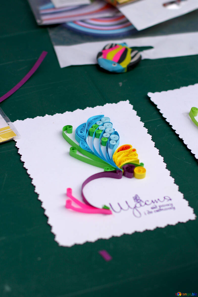 Quilling Kids Craft Flower And Butterfly Hand Made Crafts Diy