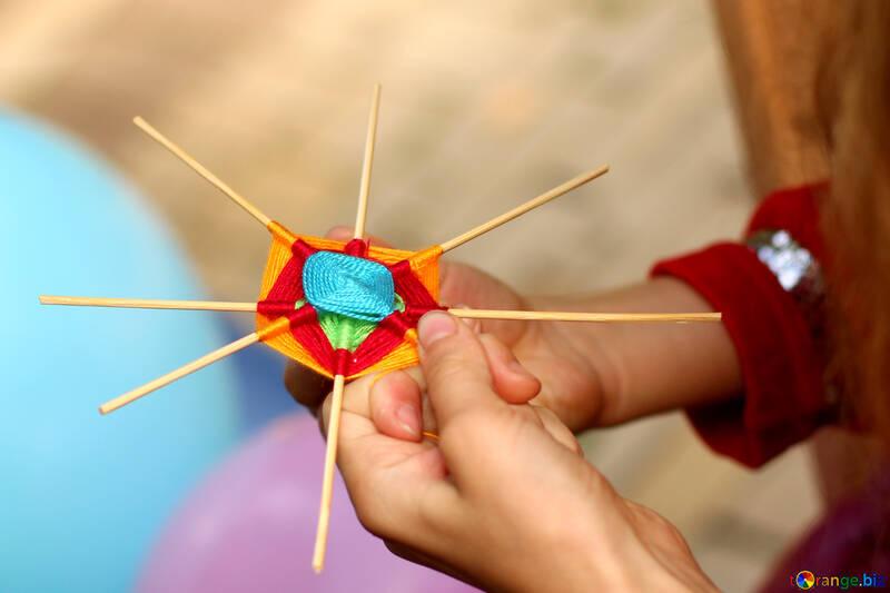 Weaving wool handmade №50989