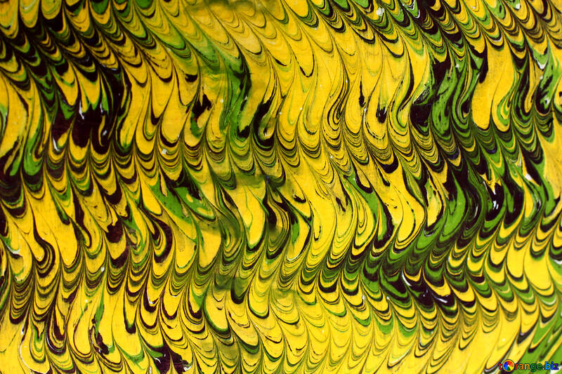 abstract yellow and green painting snake skin texture background №50921