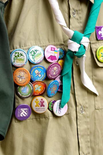 Scout buttons badges boyscout №51037