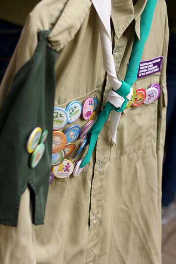 scout badges on uniform shirt №51039