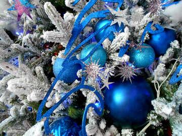 blue Christmas decoration №51170