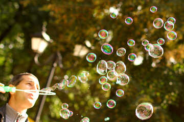 bubbles soap and leaves №51122