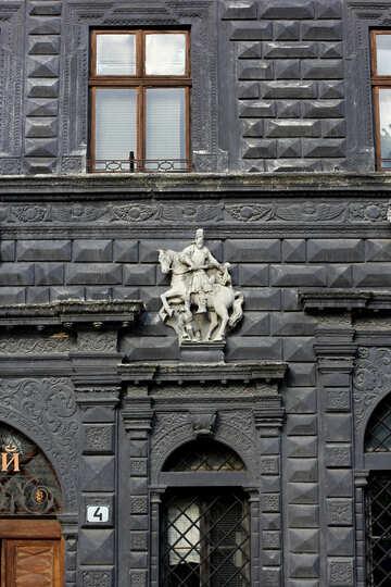 Door house building ancient wall dark gray №51928
