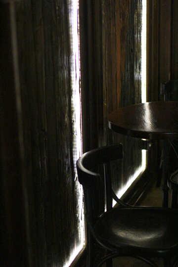 Tabelle graue Pfeifen und weiße Linien Stühle №51979