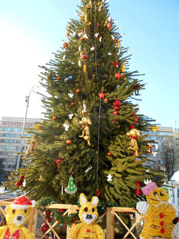 Christmas tree bears around №51163