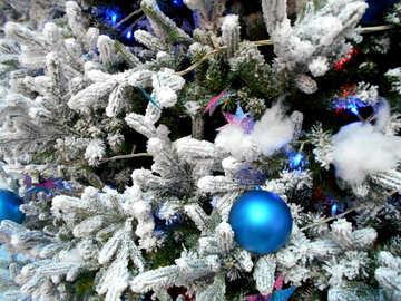 christmas tree xmas blue ornament №51172