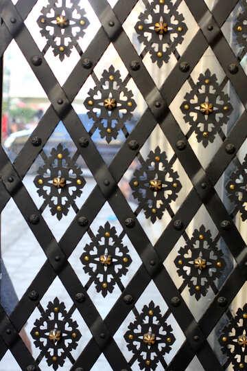 metall fence decorative mosaic window №51649