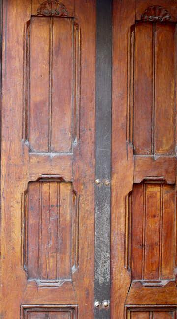 Texture doors brown wooden wood old ruined №51911