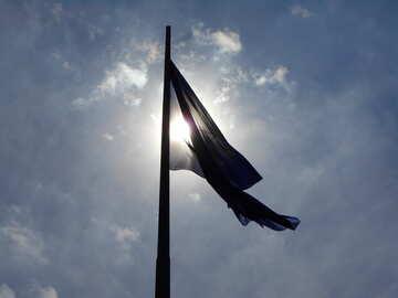 Flag blue and sun №51295