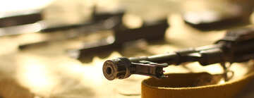 Gun tool in focus, others background and blurred №51186