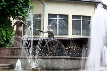 House with fountain №51789
