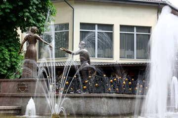Casa con fuente №51789