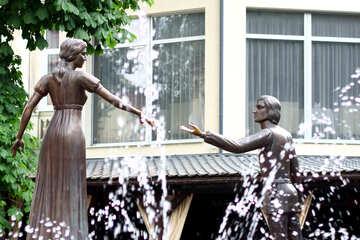 Romantic couple fountain №51786