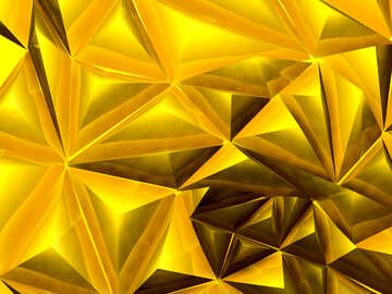 Polygon gold background №51586
