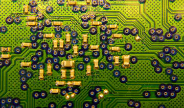 Circuit Board texture it technology background green stuff №51564