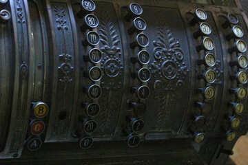 Old made of metal cash register cashier №51655