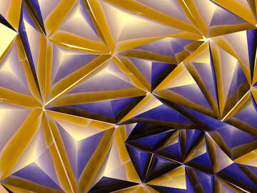 Polygon gold metallic futuristic background №51585
