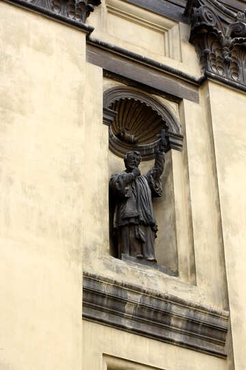 statue in the wall of old building №51844