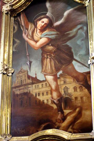 Old  paint art an angel №51851