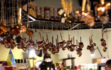 Pots and pan , dzezva, copper №51977