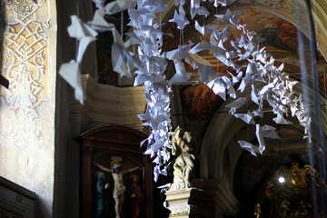 Paper origami white birds №51854