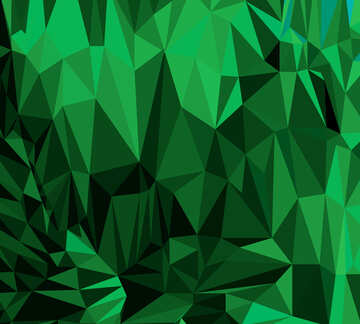 Polygon background with triangles Green