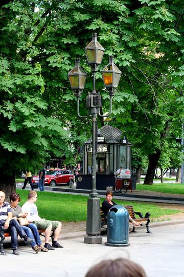 Lichtpfosten Laternenpfahl Park №51825