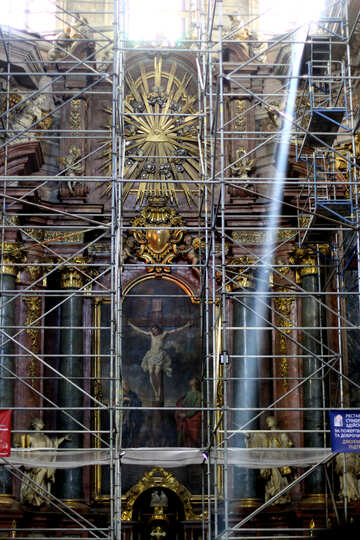 Construction  scaffolding church religious №51848