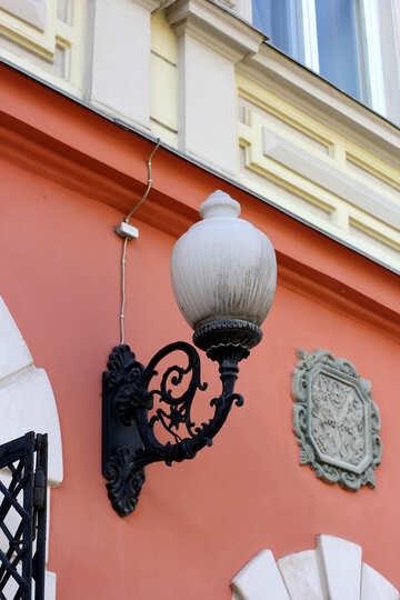 Old street light lamp