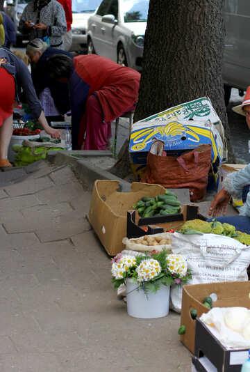 Sidewalk sale street flowers market №51778