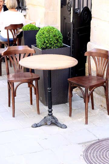 Tisch und Stühle kreisen №51673