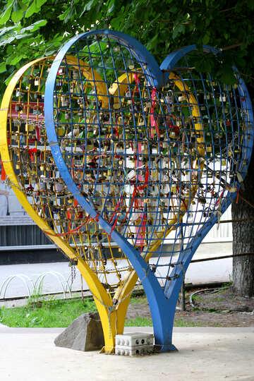 Hearts tennis rackets №51798