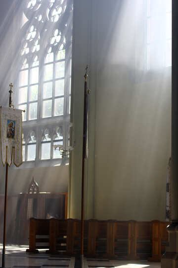 Light shining through window church №51702