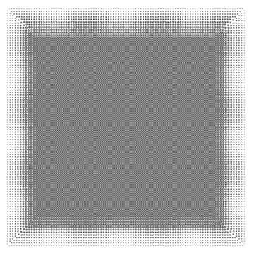 White frame border offset
