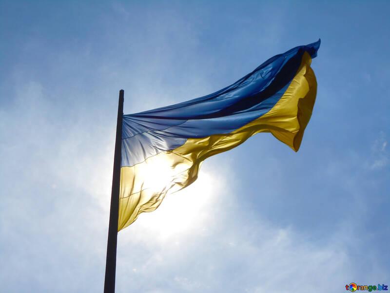 a flag Ukraine in the sky №51268