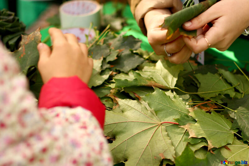 leaves hands craft №51063