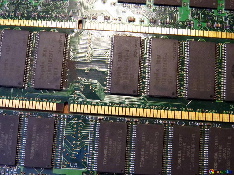 Memory ram chips printed circuit №51593