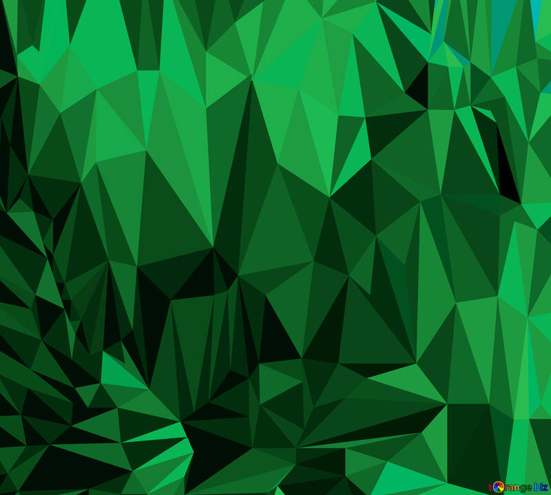 Polygon background with triangles Green №51582