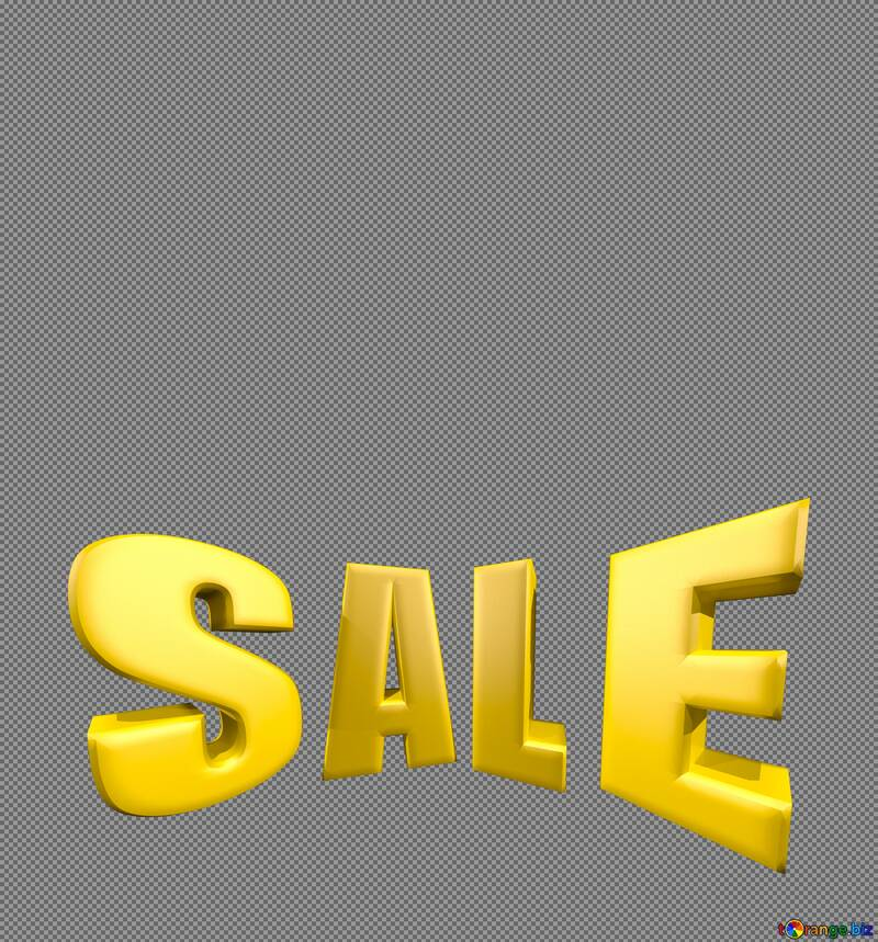 Sales discount promotion sale made of realistic 3d Gold letters collection for your unique selling poster, banner, discount, ads. №51550