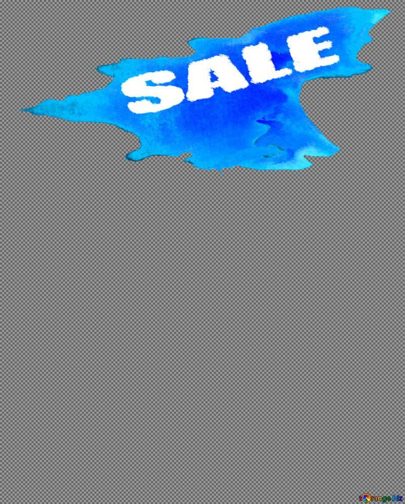 Winter sale watercolor paint poster or banner set with place for discount text and snow elements blue draw background for shopping promotion top  №51541